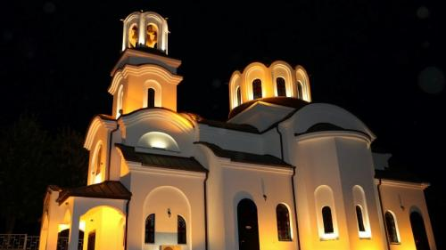 "Художествено осветление на храм ""Свети Игнатий Старозагорски"", град Стара Загора / Художествено осветление"